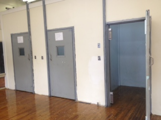 A seclusion room for children with emotional/behavioral problems.