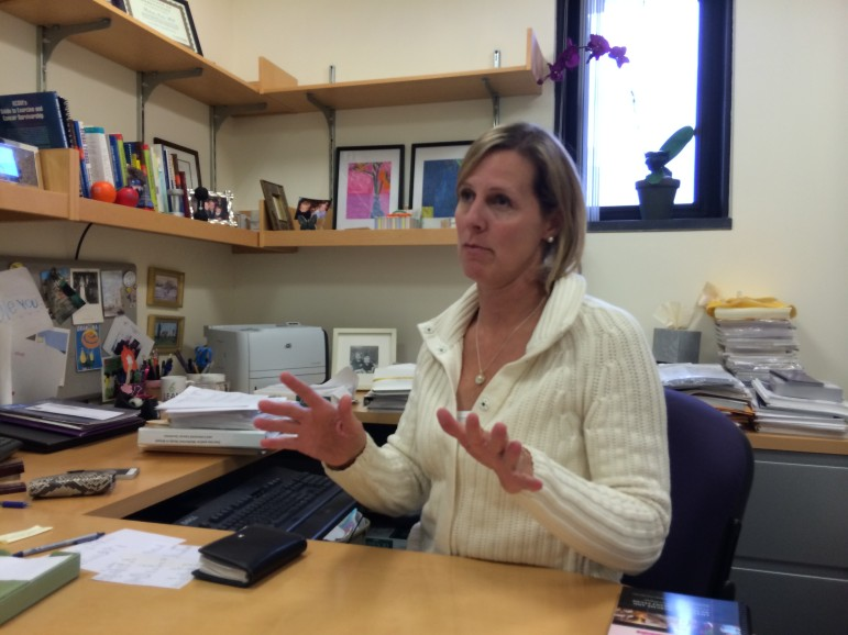 Melinda Irwin in her office at Yale.