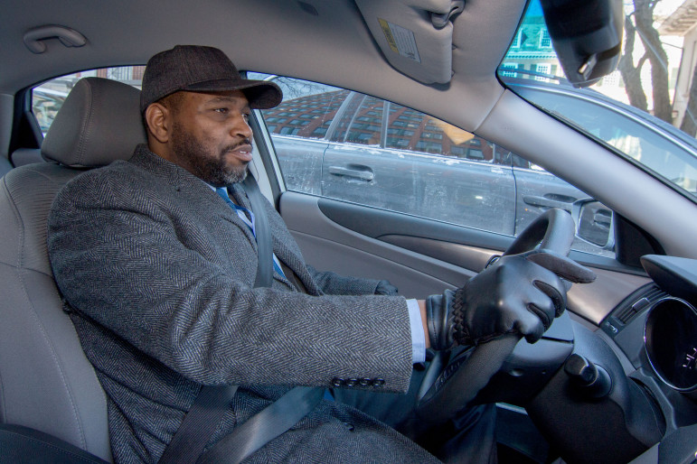 Patrick Hayes, a Navy veteran from Bridgeport, drives veterans to court appearances.