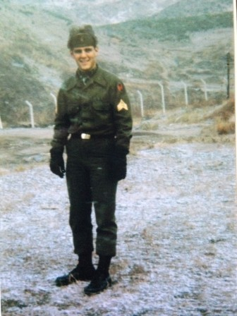 Eugene Clarke at Camp Casey, Korea in 1967.